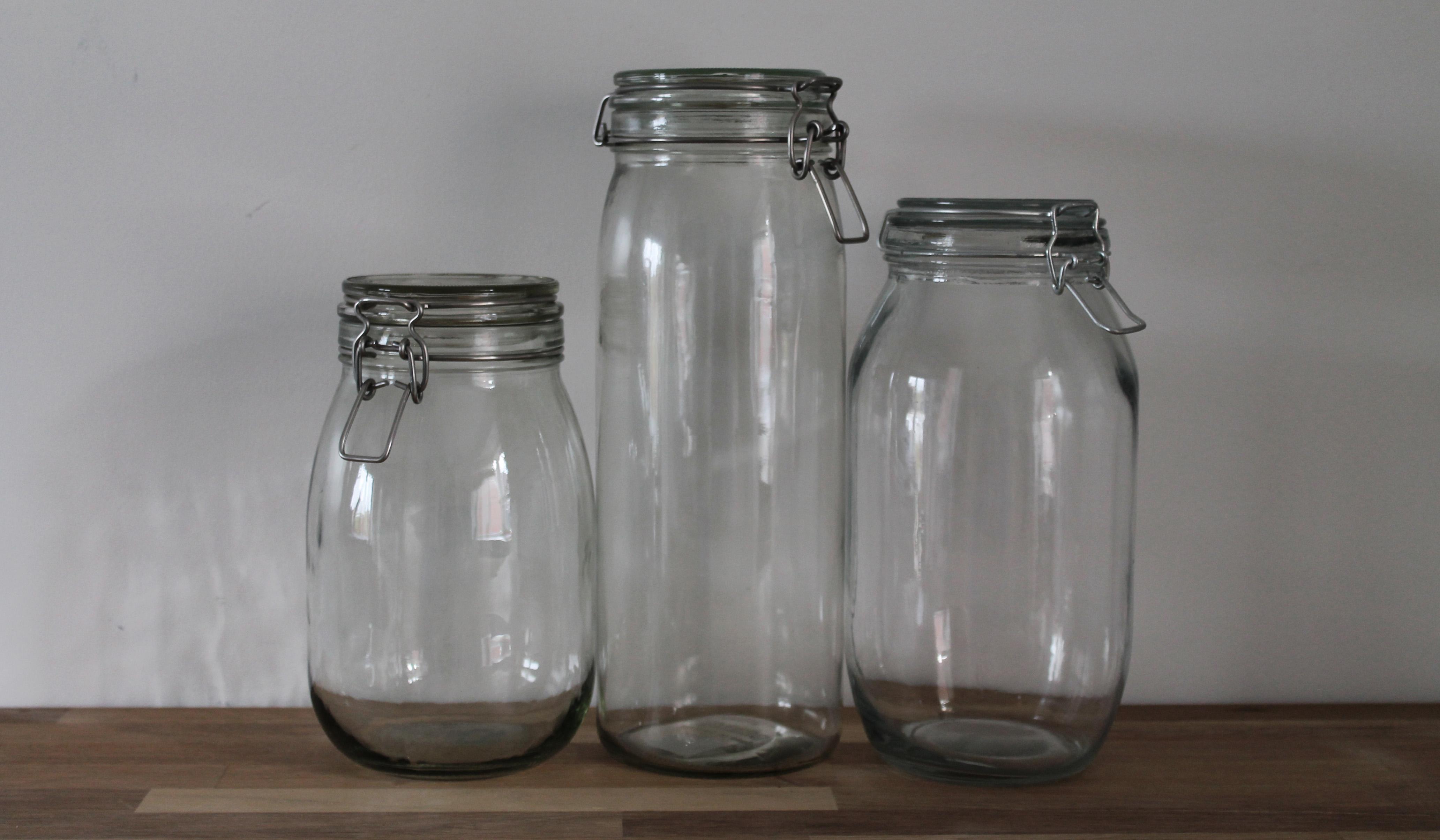 mixed flip top jar sizes