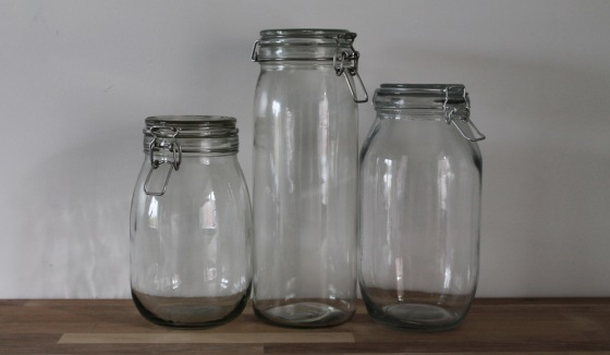 mixed flip top jar sizes