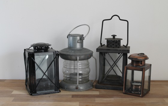 old tea light lanterns