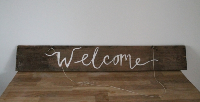 Hand Painted Signage - From £10.00 each to hire.