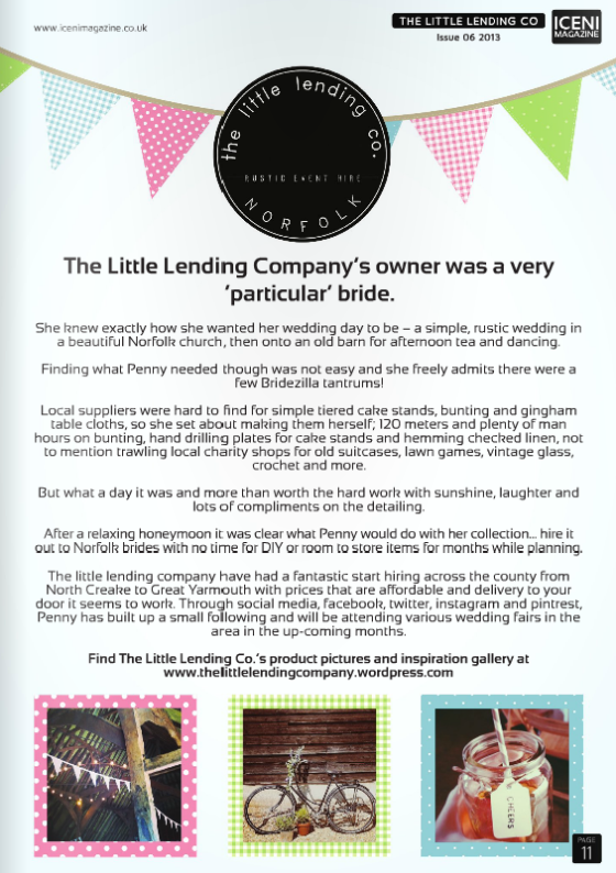 The Little Lending Company in ICENI magazine: Issue 6