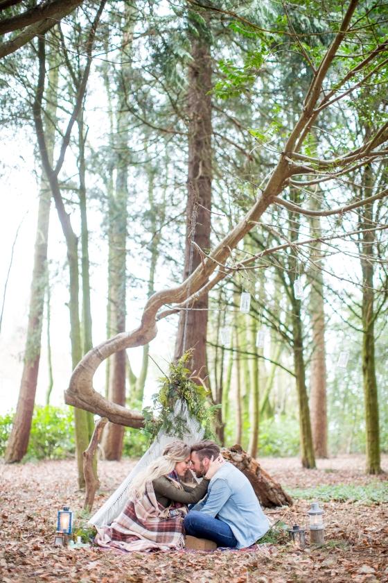 Jamie and Emily Woodland Shoot-1