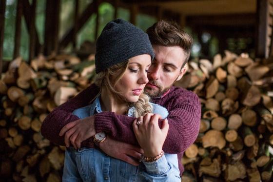 Jamie and Emily Woodland Shoot-262