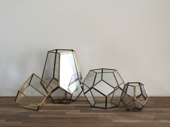 geo glass lanterns