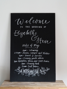 Prices on request for hand written blackboard.
