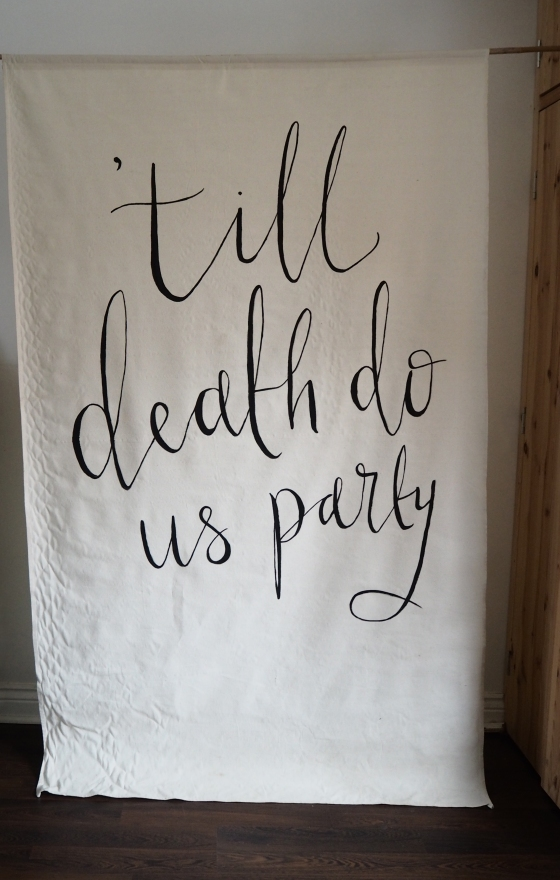 'till death do us party banner
